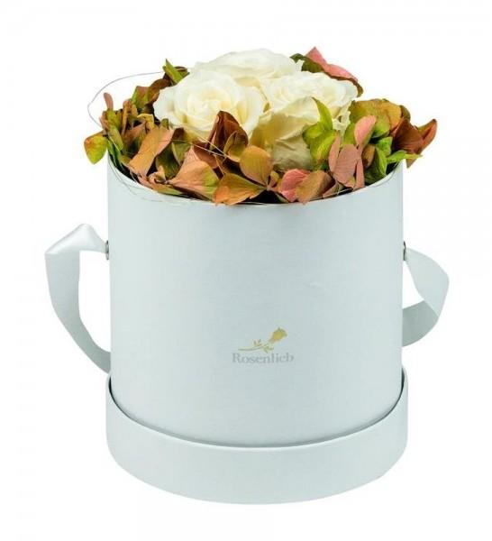Autumn Special M Weiß Infinity Weiß/Cream mit Hortensie