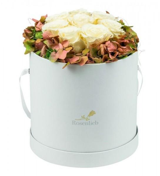 Autumn Special L Weiß Infinity Weiß/Cream mit Hortensie
